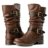 GLBALWIN Women's 17YY10 Brown Fashion Boots 7.5M