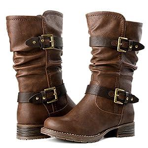 GLBALWIN Women's 17YY10 Brown Fashion Boots 6M