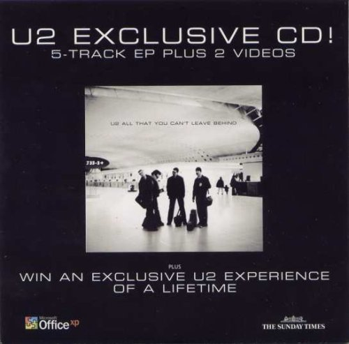 U2 Exclusive CD! 5-Track EP Plus 2 Videos