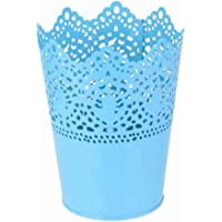 Metall Schneiden Pflanze Vase Topf Stift Make-up Bürstenhalter Schreibtisch Ordentlich Organizer Veranstalter Aufbewahrungskorb