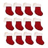 Zulaniu 12pcs Christmas Knifes Forks Bag Silverware Flatware Santa Claus Holder Hanging Socks (Socks)