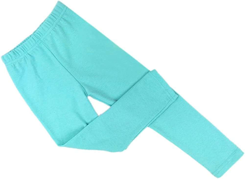 Daxin Baby Girls Solid Color Tight Bottoms Slim Warm Pant Size 2-7Y Light Blue