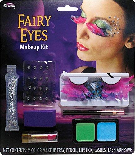 Fun World Men's Fairy or Spider Eye Lashes Make Up Kit, Multi, Standard ()