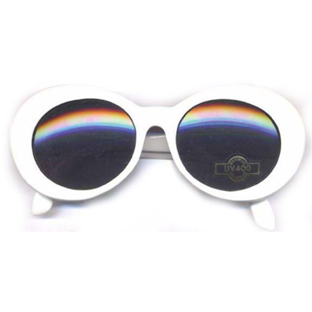 Amazon.com: Kurt Cobain Blanco Ronda anteojos de sol: Sports ...