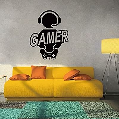 "Boodecal 23""(w) x 28""(h) Boy Gamer Joystick Video Computer Game Fun Mural Art Wall Sticker for Kids Rooms Boys Bedroom"