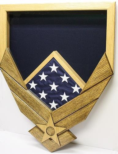 Air-Force-Military-Shadow-Box-by-Ridgecrest-American-Grown-Hardwood-Customize-Now-Service-Air-Force-Emblem