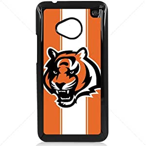NFL American football Cincinnati Bengals HTC One M7 Hard Plastic Black or White case (Black)