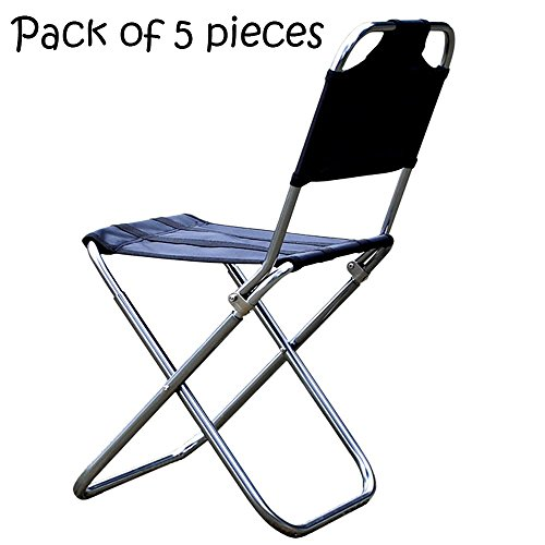 Ezyoutdoor 5pcs Stool Chair Folding Lightweight for Camping Fishing Compact Bivouac Hunting Fishing Camping stool with back suitable for Child Kids