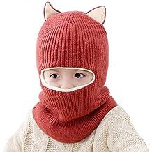 Kids Winter Hat, Baby Knit Hat, Baby Girls Boys Winter Hat, Thick Scarf Earflap Hood Scarves Skull Caps, 1-5 Years Kids