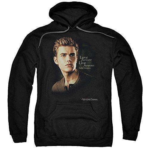 Forever Adult Sweatshirt (Vampire Diaries TV Show Stefan Forever Adult Pull-Over Hoodie)