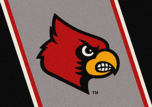 Louisville Cardinals NCAA College Team Spirit Team Area Rug - Spirit Rug Cardinals