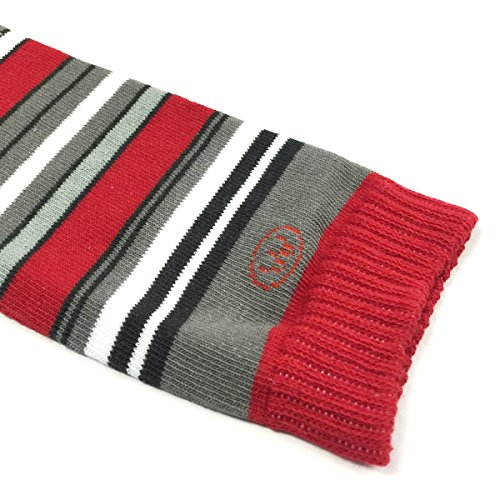Wrapables Colorful Baby Leg Warmers, Stripes Red and Gray by Wrapables (Image #1)