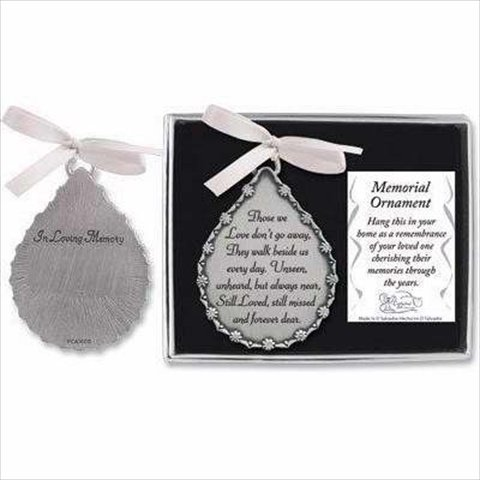 Cathedral Art CO521 Tear-Shaped Memorial Ornament, 2-3/4-Inch Funeral Wreath