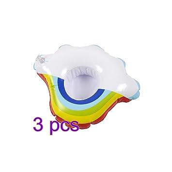toyfun Posavasos hinchable para bebidas flotante, arcoíris y nube ...