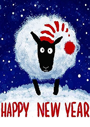 yuiekim happy new year sheep decorative garden flag 125