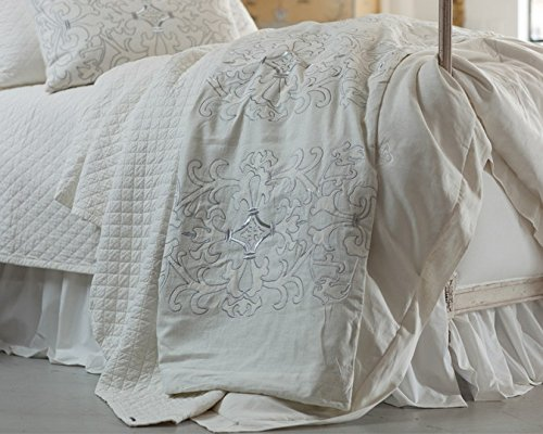Lili Alessandra ZLTP271WW Louie Throw Blanket, White, 30
