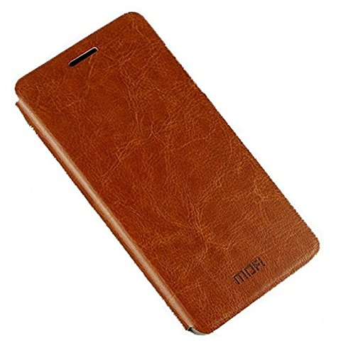 100% authentic 443a9 e9027 Mofi Vintage Leather with Back Flip Cover Case For Micromax YU Yureka -  Brown