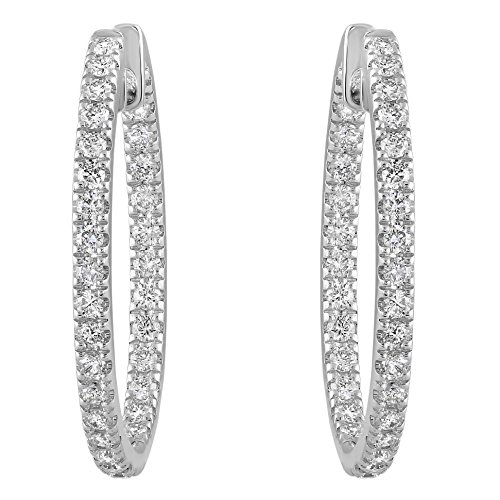 Olivia Paris Certified 14k White Gold Inside Out Diamond Earrings (1.00 cttw, H-I, SI1-SI2) 1