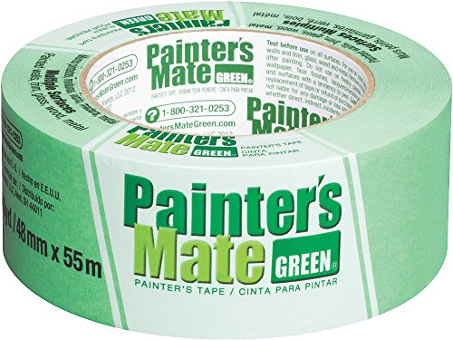 Painter's Mate Green Brand CP 150/8-Day Painter's Tape, Multi-Surface, 48mm x 55m, Green, 1 Roll (Painters Mate Green)
