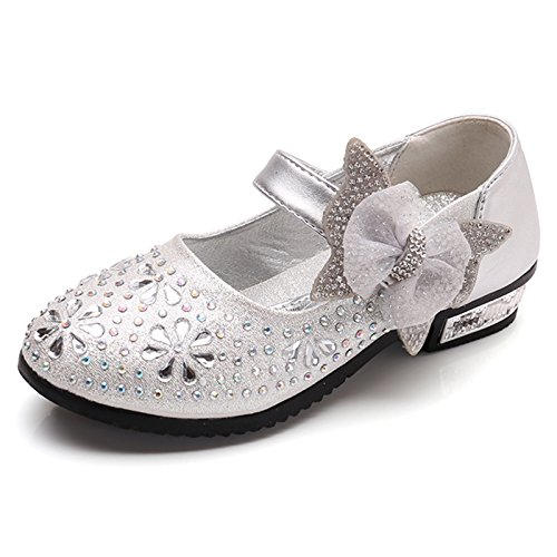 Kikiz Little Girl's Princess Dress Shoes Kids Mary Jane 7 M US Toddler ()