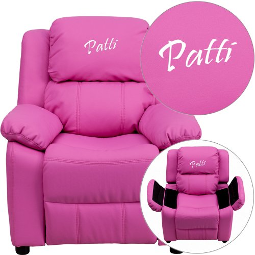 Personalized Deluxe Kid's Recliner Upholstery: Hot Pink Vinyl