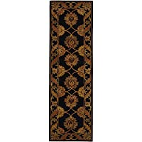 Safavieh Heritage Collection HG314A Handcrafted Traditional Oriental Black Wool Runner (23 x 8)