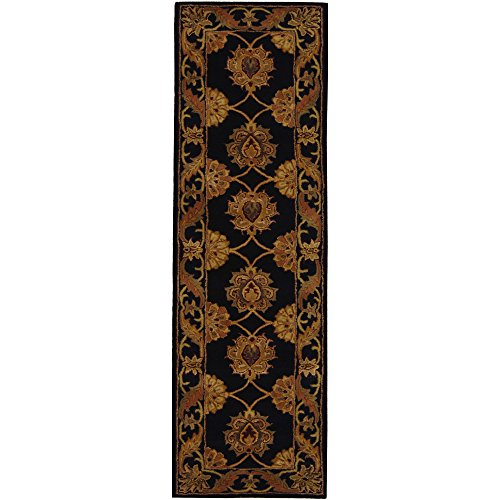 Safavieh Heritage Collection HG314A Handcrafted Traditional Oriental Black Wool Runner (2'3