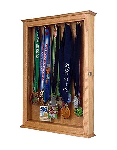 (Marathon Medal Display Case Made Out Of Solid Oak)