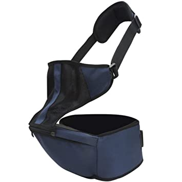 2f4aaa706e3 Amazon.com   Baby Kids Child Infant Toddler Safety Hipseat Hip Seat Stool Carrier  Belt Sling Hugger Harness Rider (Dark Blue)   Baby