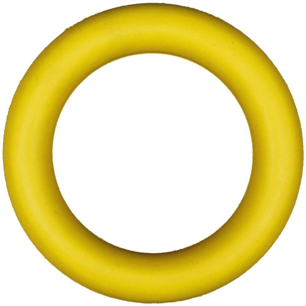 Boje Sport - PREMIUM Produkte (schneller Versand ) Wurfring / Tennisring aus Gummi - Ø 17 cm, Farbe: gelb