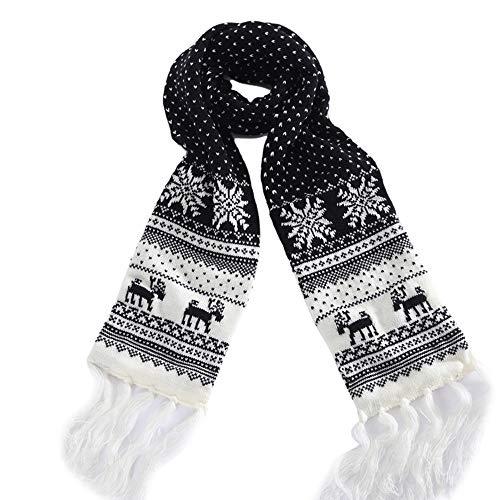 Snowflake Lambswool Winter Gloves - Pandaie Womens Scarves, Unisex Christmas Reindeer Snowflake Scarf Warm Thick WinterTassels Shawl Xmas