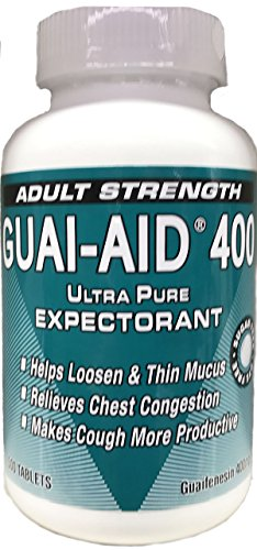 500 Guai-Aid® 400mg Guaifenesin Dye-Free Caplets -1 Bottle of 500 Round Scored Tablets ()