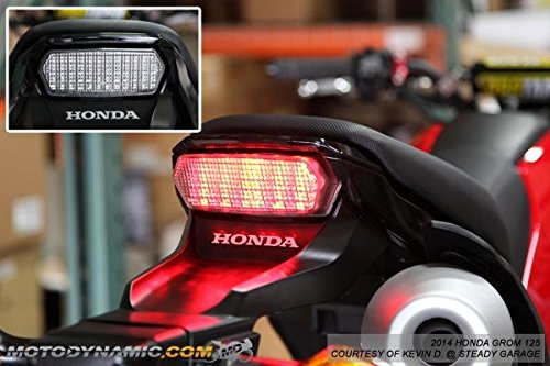 (Kawasaki Z1000 2014-2016 Ninja ZX-10R ZX-10RR 2016-2018 Integrated Sequential LED Tail Lights Smoke Lens)