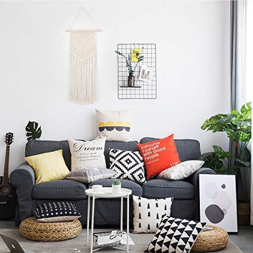Plaviya Macrame Woven Wall Hanging, Boho Decor Bohemian Chic Boho Wall Décor - Home Office Livingroom Bedroom Art Decoration, 16\