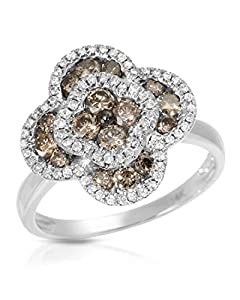 Krementz 14K White Gold 0.90 CTW Diamonds Women Ring. Ring Size 6. Total Item weight 5.0 g.