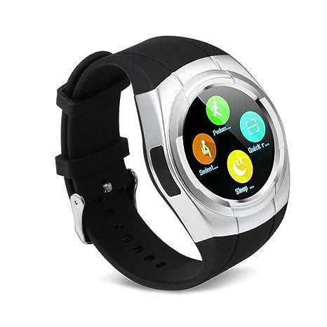 Amazon.com : QEAC Smart Watch Round Nano Sim Tf Card with ...