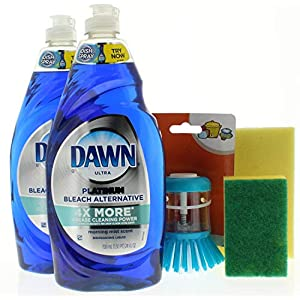 Best Epic Trends 51cE7pGq8SL._SS300_ Dawn Ultra Platinum, Bleach Alternative, Morning Mist Scent 24 Fl. Oz Dishwashing Bundle