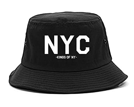 6c2af734721 Amazon.com  Kings Of NY NYC City New York Bucket Hat Black  Clothing