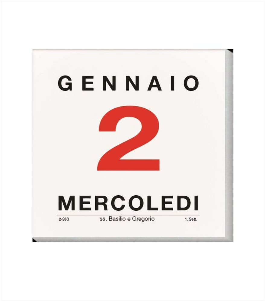 Calendario A Strappo,Blocco Da Muro 2020 Quadrato Formato 11,5x11,5 Centimetri Art.209c Notabene