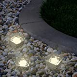 Cheap Yard Decor, Solar Outdoor LED Ice Cube Rock Lights, Battery Operated Garden, Patio, Lawn, Yard Ornament by Pure Garden