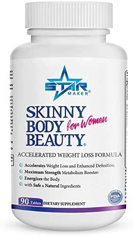 SKINNY BODY BEAUTY Keto Weight Loss Diet Pills for Women - Accelerated Weight Loss Formula, Energy Booster w Garcinia Cambogia, Helps Curb Food Cravings, Sheds Body Fat & Excess Water Weight, 90 Count