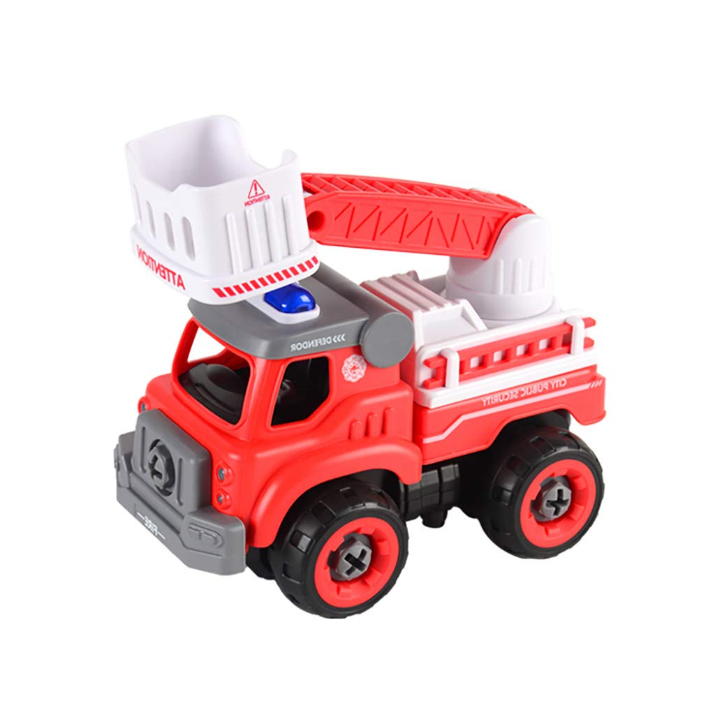 ERLOU Education Toys Take Apart Toys with Electric Drill Converts to Remote Control Car Toys for Boys Baby Boys Girls (C)