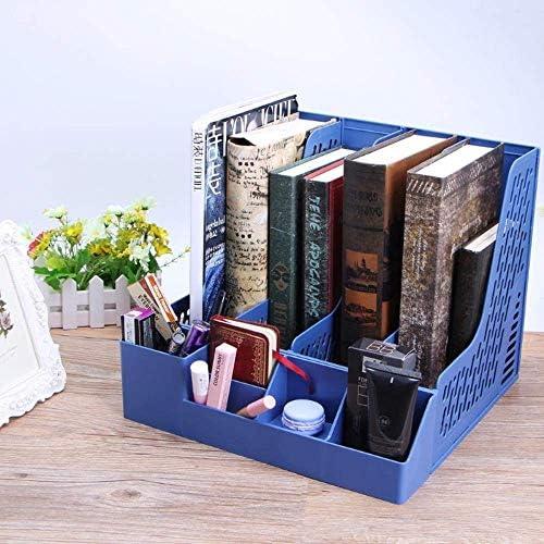 AGWa Desk File Organizer, 4 Abschnitte Desktop File Rack Papierbuch Halten Office Dokumentenfach Organizer Box School Office Supply File Storage