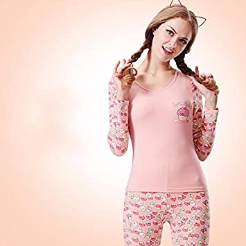 5223c57a5234 Image Unavailable. Image not available for. Color: LVLIDAN Thermal  Underwear winter feminine Cotton Slim Fit thin ...