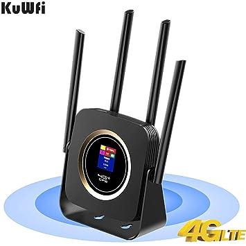 KuWFi Router 4g sim, LTE WiFi Router 4G con batería 3000Mah ...