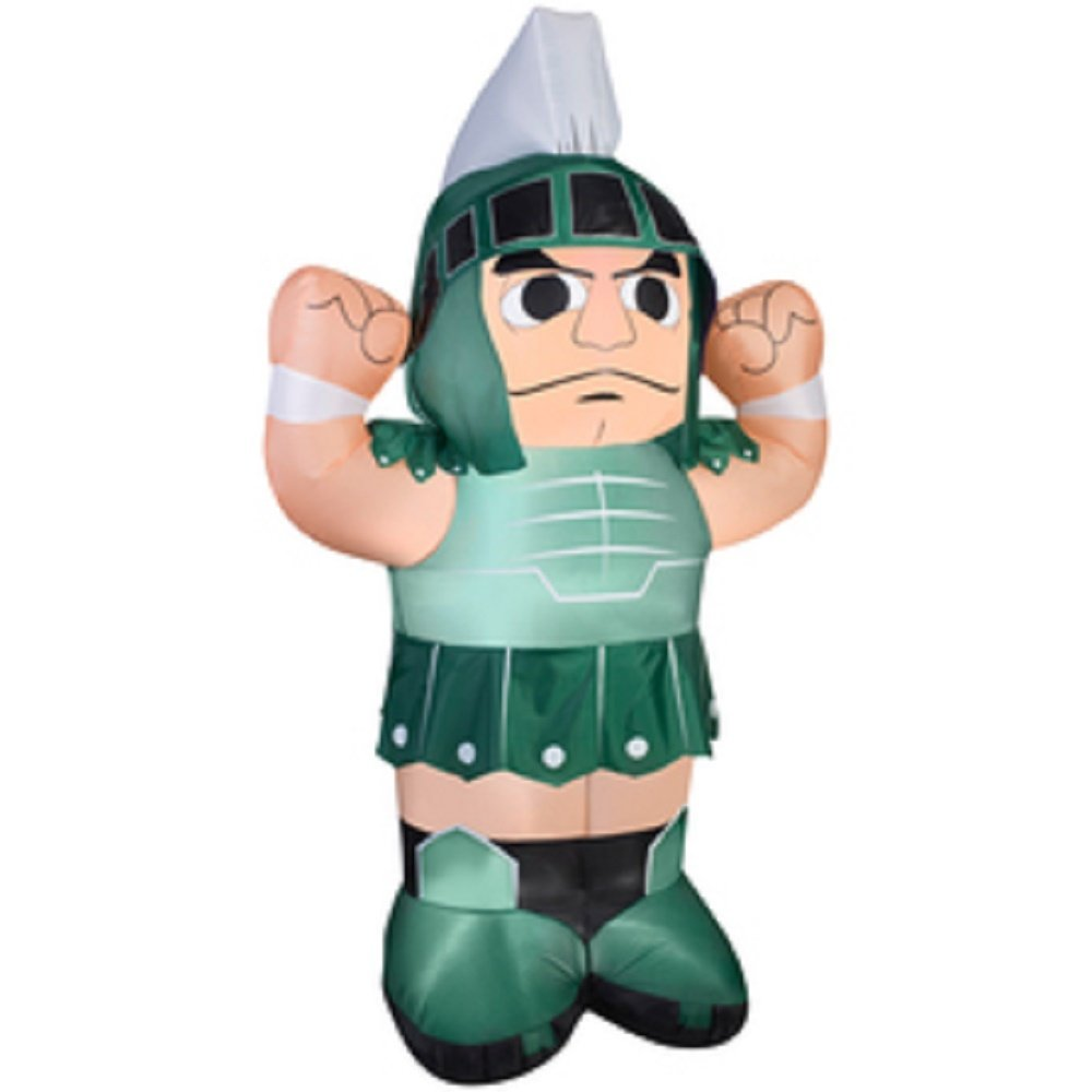 Gemmy Airblown Inflatable Michigan State University Sparty The Spartan Mascot  Football, 7-foot Tall