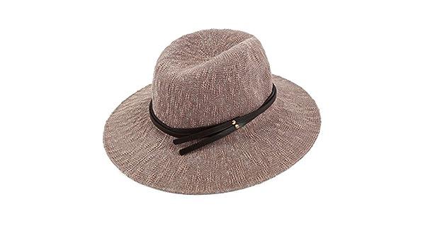 Sombreros mujer Sombrero del sol de verano sol Romper el sombrero grandes  aleros Sombrero de playa plegable Sombrero para el sol Cubo sombrero de moda-D  un ... 2773b44fb91