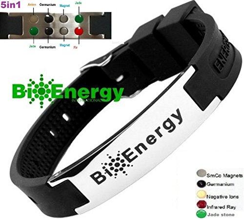 Magnetic Energy Germanium Armband Power Bracelet Health Bio 5in1 Bio 9245 by BioEnergy International