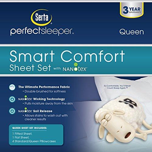 Serta Perfect Sleeper Smart Comfort Sheet With Nanotex