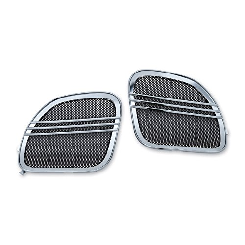 Kuryakyn 7378 Tri-Line Chrome Speaker Grill by Kuryakyn